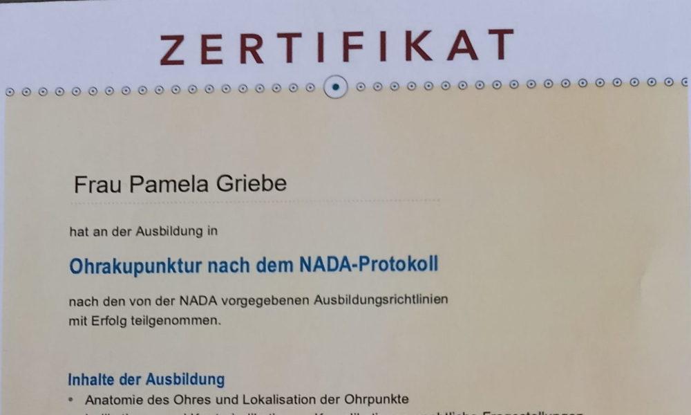 Akkupunktur Zertifikat 18.3.2021